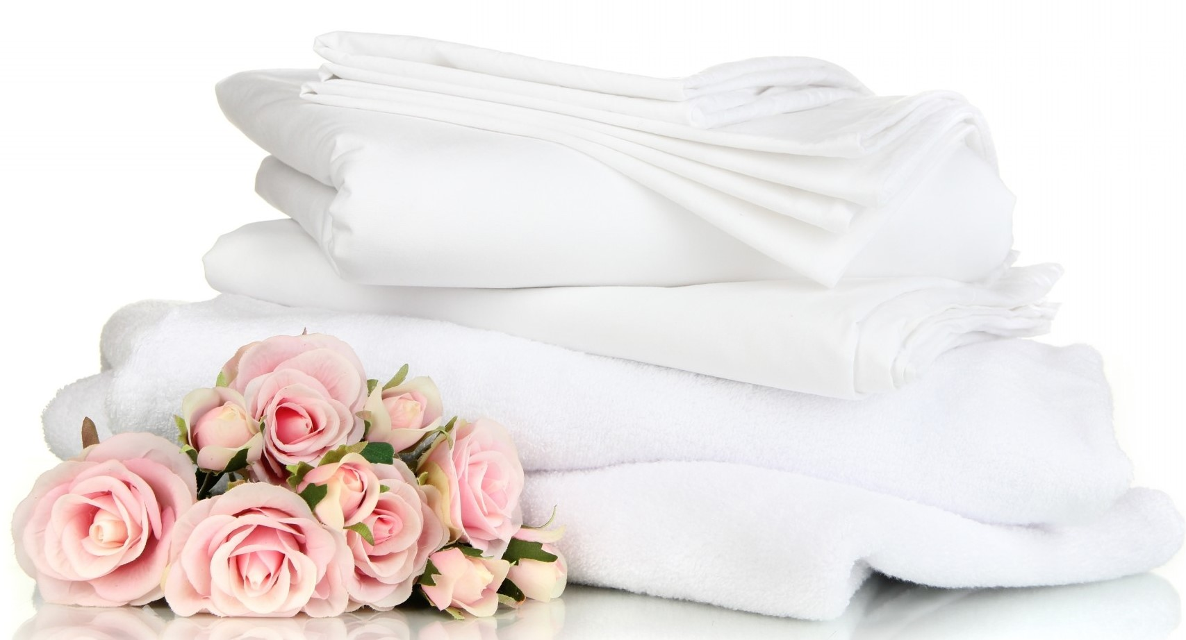Towels and bed linen included