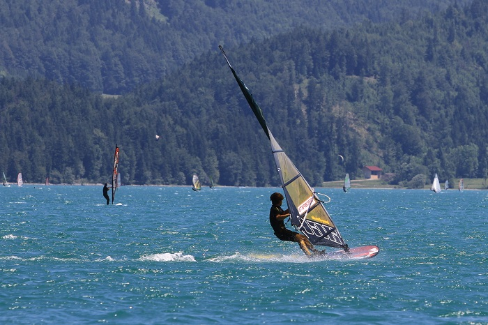 Windsurfing at the Walchensee