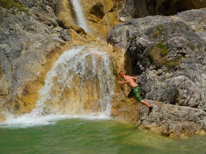 Canyoning in the Finzbach gorge