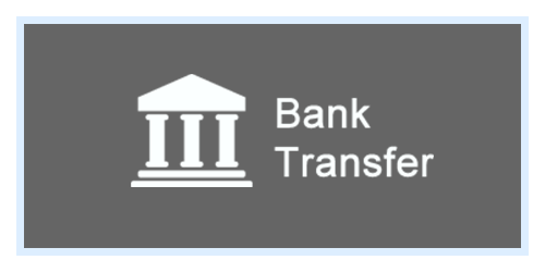 Payment via bank transfer